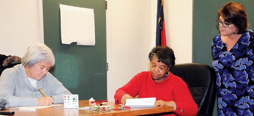 Kay Horne_Bonita Blakney_Kathy Enzor_CC Board of Elections