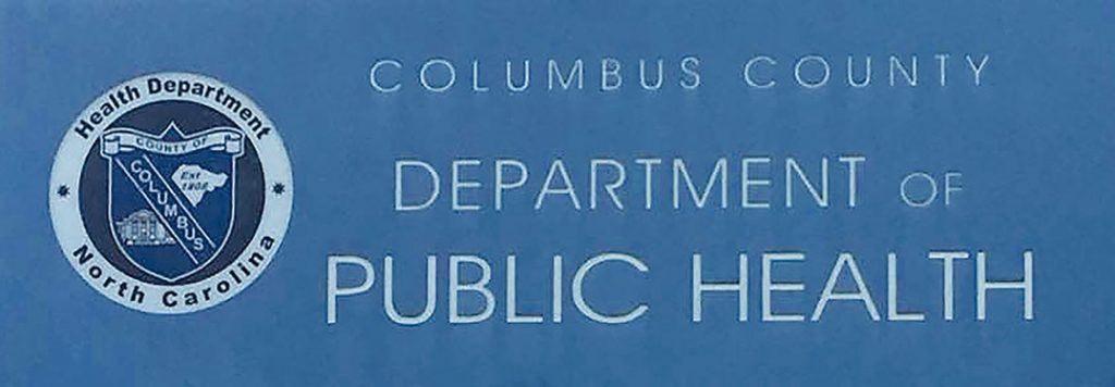Columbus County Health Department Sign